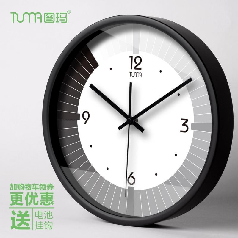 圖瑪創意大掛鐘 個性客廳鍾金屬時鐘掛錶石英鐘天王星靜音機芯103