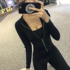 Fitness girl sexy short zipper sports jacket running tight long-sleeved net red yoga clothes top jacket autumn