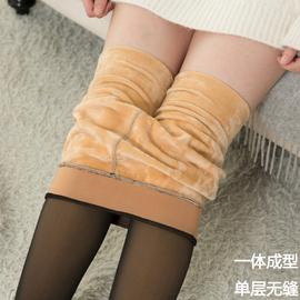网红假透肉打底袜裤女无缝空姐灰一体透肤裤薄款加绒加厚咖保暖袜