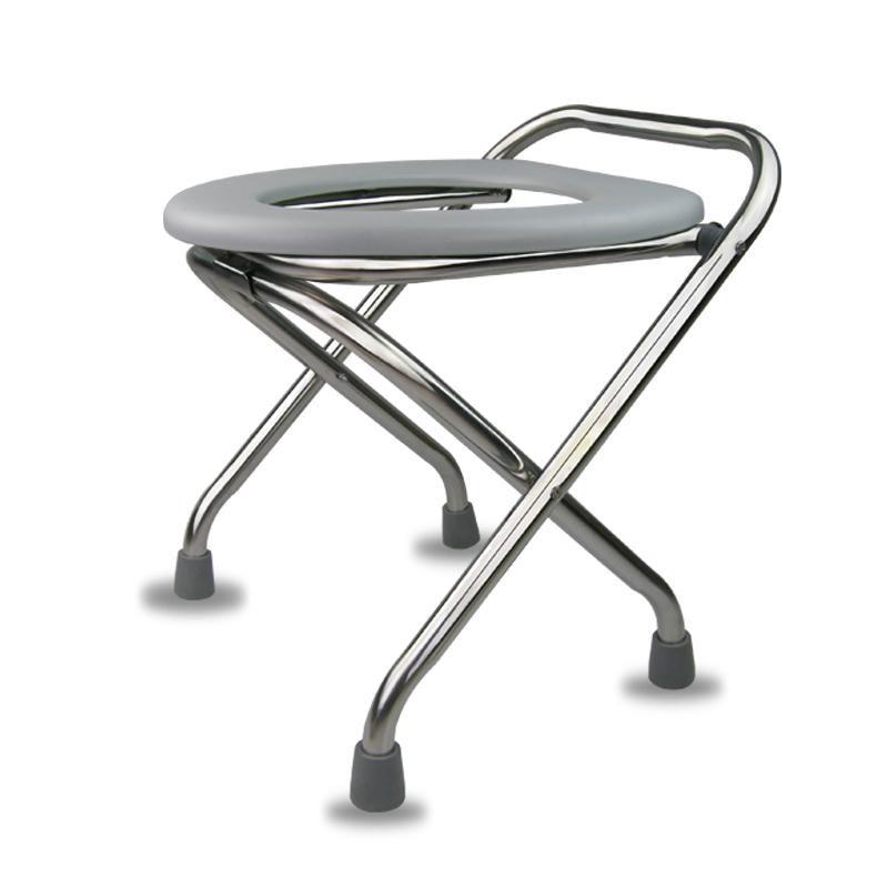 可折叠老人坐便椅孕妇坐便器不锈钢病人座便椅老年坐厕蹲便凳马桶