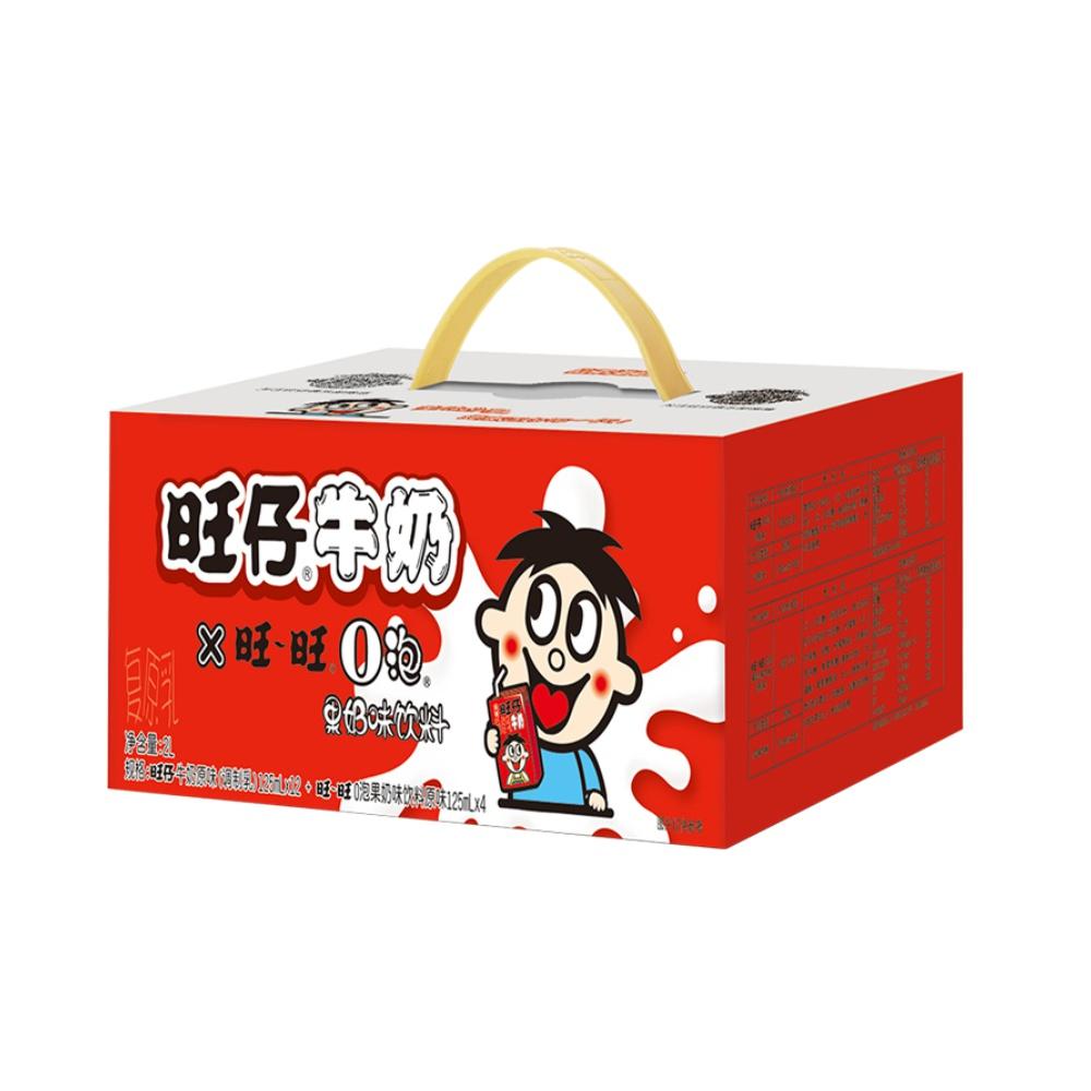 旺旺旺仔牛奶+O泡果奶组合125ml*16(儿童牛奶*12+O泡*4)早餐奶