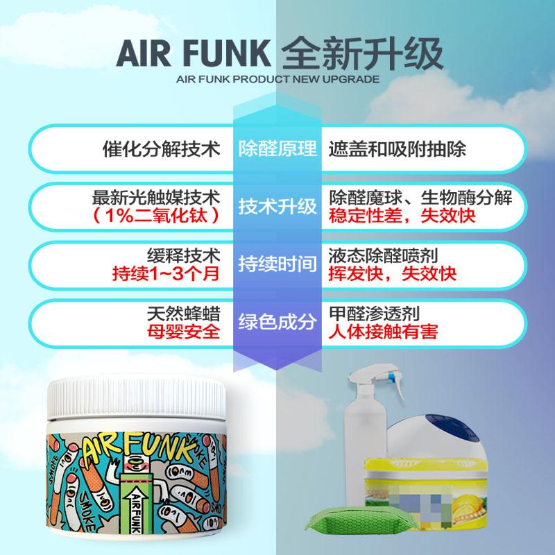 airfunk甲醛清除剂光触媒去除甲醛新房家用除甲醛神器家具净化剂
