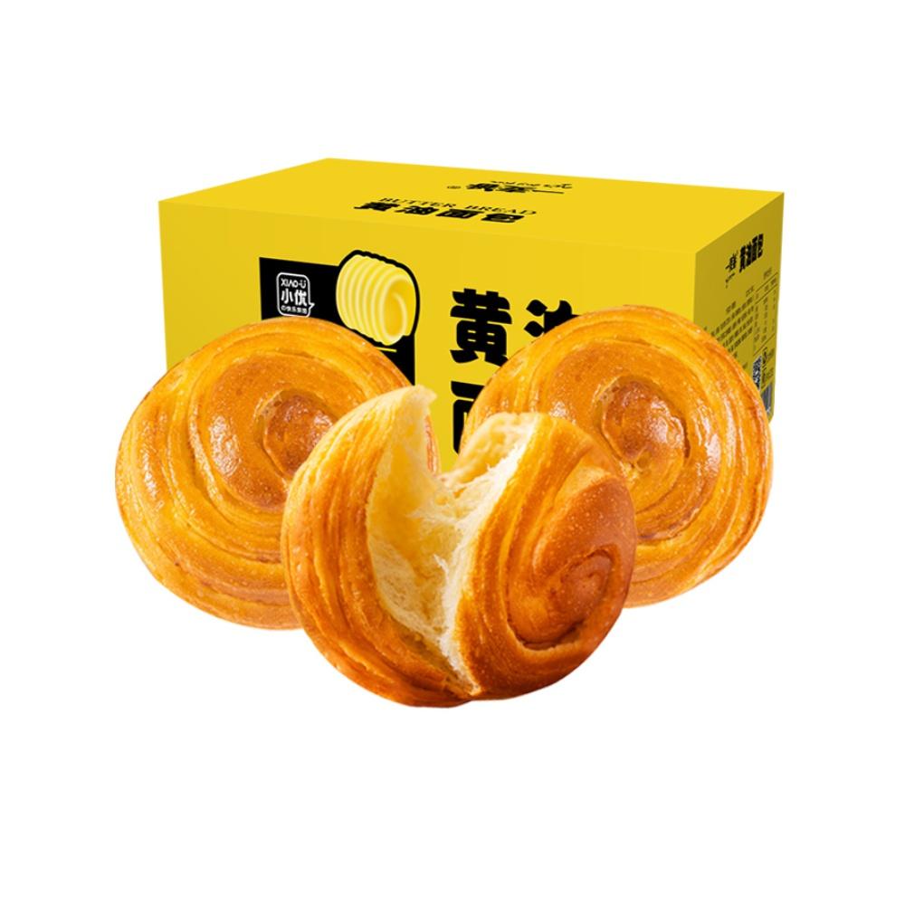 【好吃又饱腹!】小优手撕黄油面包400g