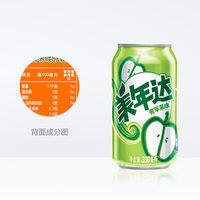 美年达青苹果口味碳酸汽水饮料330ml*24罐百事可乐百事出品礼盒 (¥46)