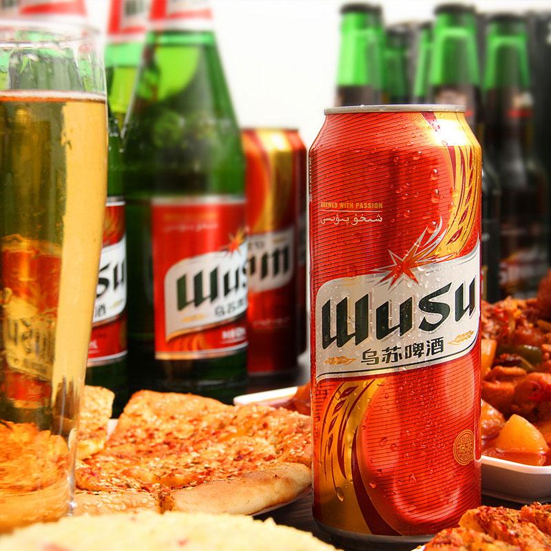 12 大红乌苏夺命大乌苏易拉罐新疆啤酒 500ml 罐