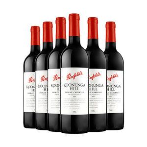 澳洲进口红酒 奔富寇兰山西拉赤霞珠干红葡萄酒750ml*6婚宴用酒