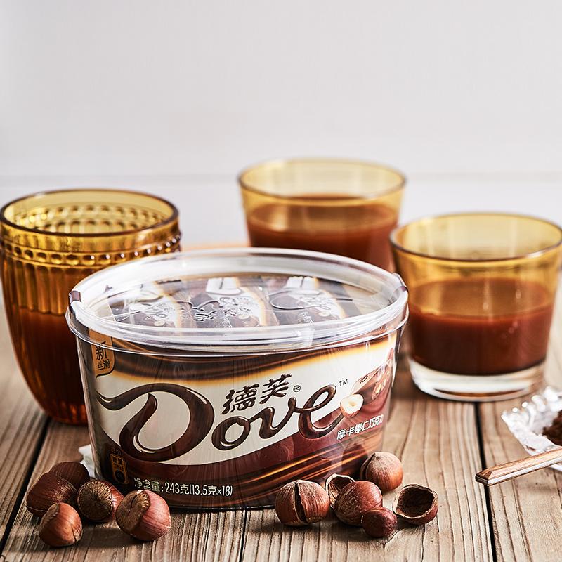 Dove/德芙摩卡榛仁巧克力礼盒243g碗装新包装糖果休闲零食