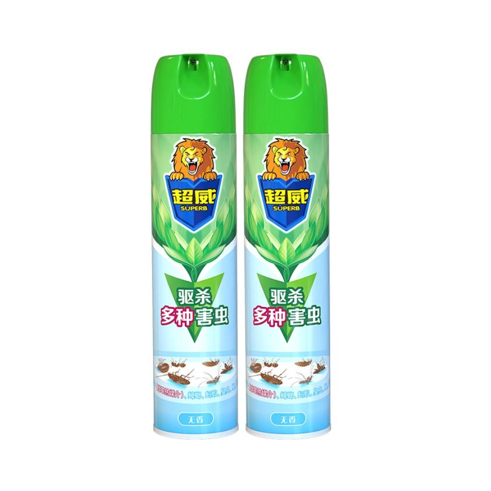 超威无香杀虫气雾剂500ml*2罐驱蚊杀蟑螂药室内外家用除虫喷雾剂