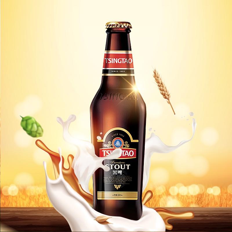猫超直送,18年国际啤酒赛金奖,330mlx10瓶 青岛啤酒 黑啤礼盒装
