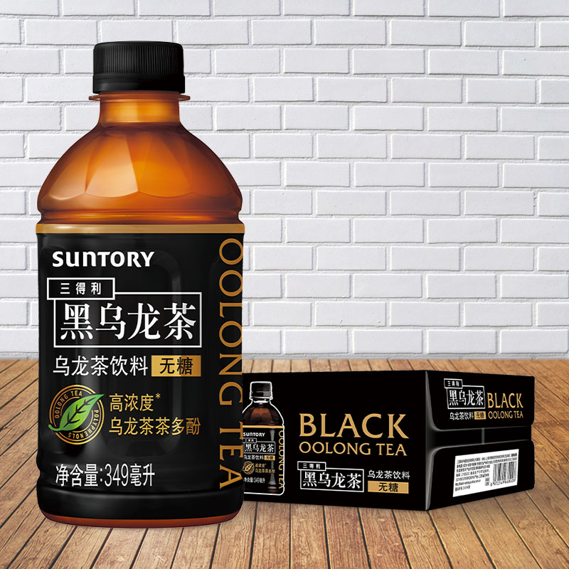 三得利 无糖黑乌龙茶 349ml*24瓶 高浓度茶多酚