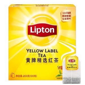 立顿/Lipton 黄牌精选红茶 袋泡茶叶茶包 200G/盒 新老包装随机