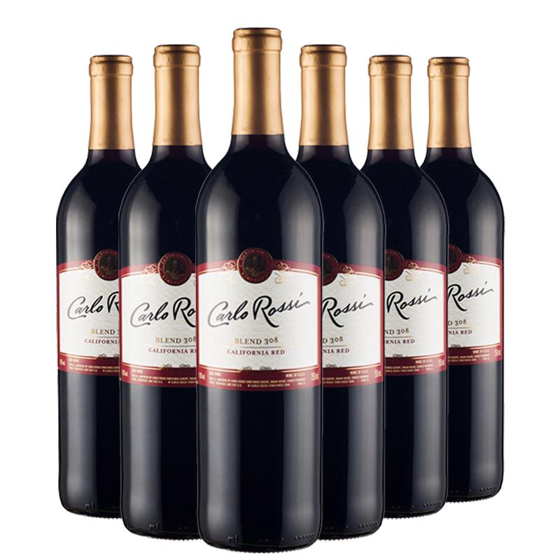 婚庆喜宴用酒 瓶 6 750ml 美国原瓶进口加州乐事红葡萄酒