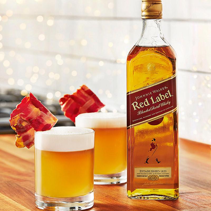 洋酒烈酒红方 英国原装进口尊尼获加红牌威士忌 700ml 聚会小酌
