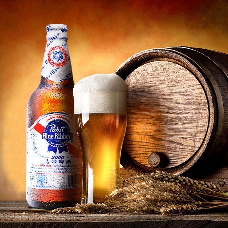 箱 瓶 12 500ml 啤酒瓶装 2000 超爽 蓝带 Ribbon Blue