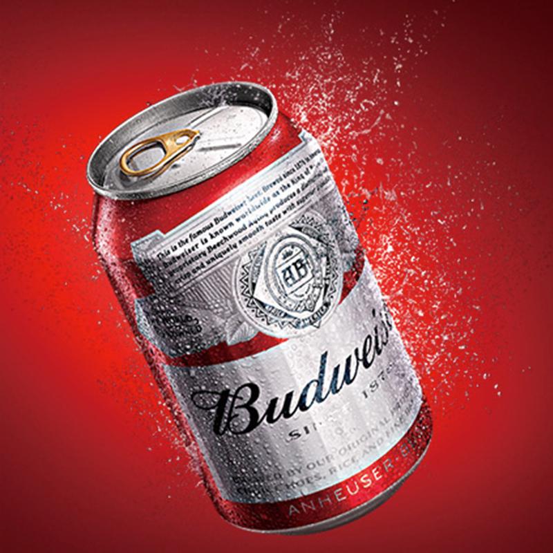 整箱 听 24 330ml 小麦醇正拉罐 百威啤酒 Budweiser
