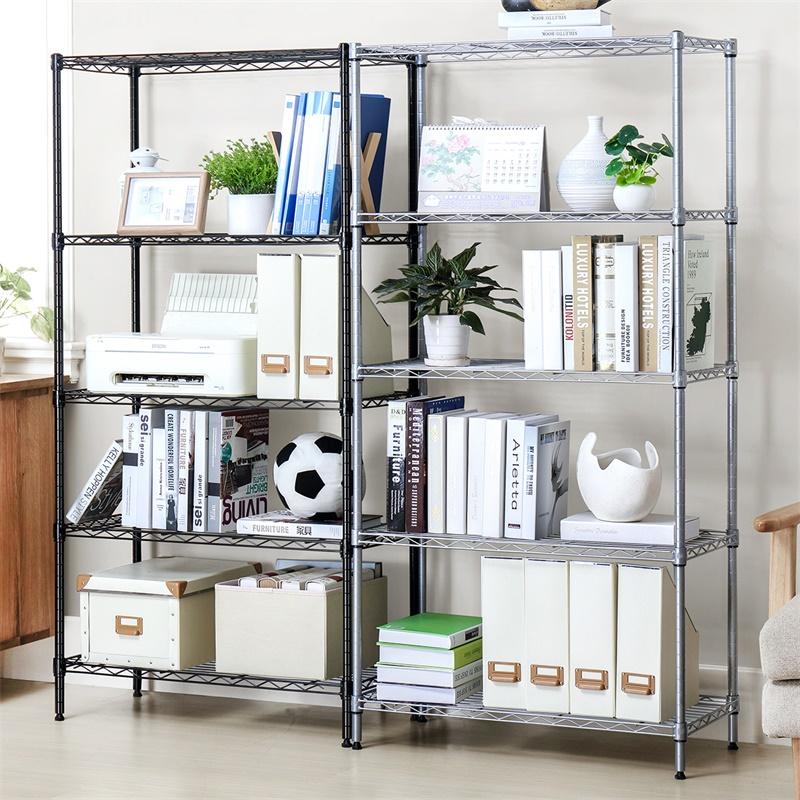 置物架落地多层 家用杂物架 厨房收纳架客厅整理简易金属储物架子