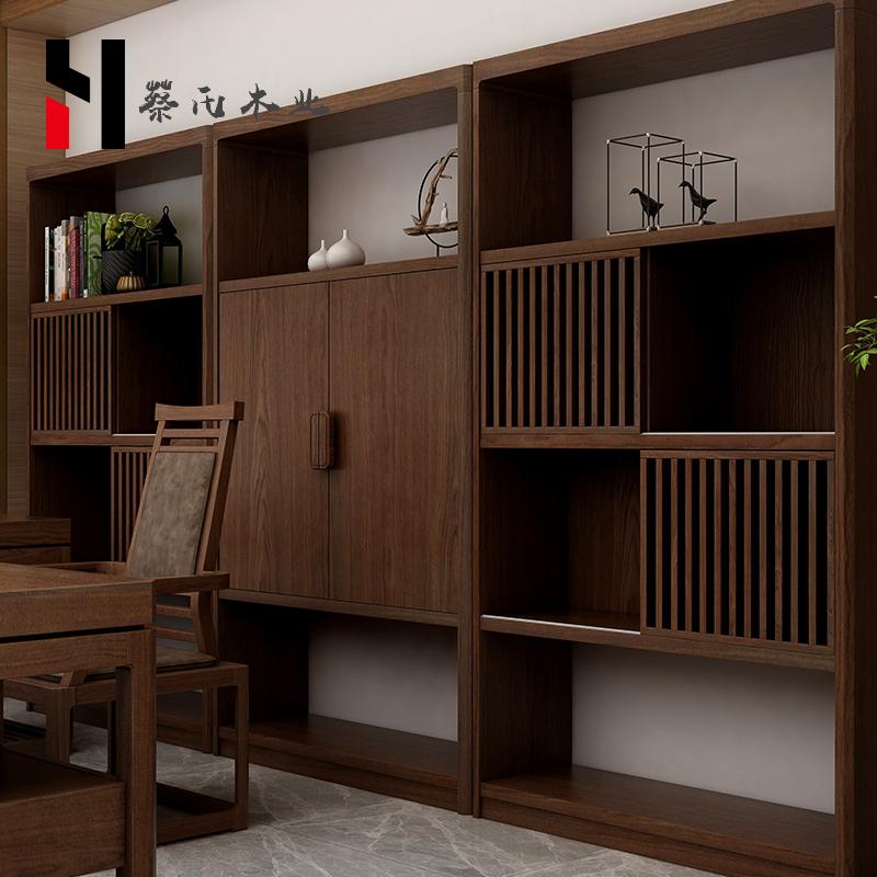 新中式办公桌椅组合现代中式老板桌总裁桌全实木高档办公家具定制