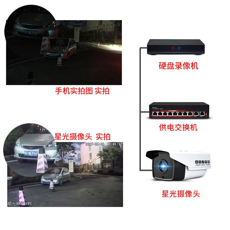 摄像头家用网络监控设备室外防水 poe 星棱夜视监控器高清套装