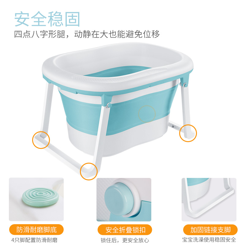 小孩洗澡盆初生婴儿新生可坐躺婴幼儿家用儿童沐浴桶宝宝大号加厚