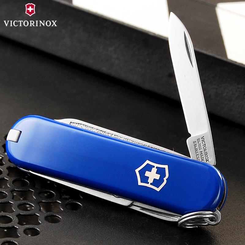 原装正品维氏瑞士军刀58mm迷你典范(蓝)0.6223.2多功能折叠瑞士刀