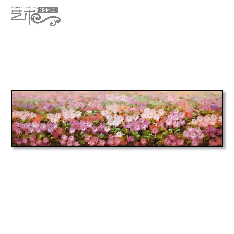 原创花卉油画中美式装饰卧室床头挂主卧现代简约温馨抽象客厅壁87