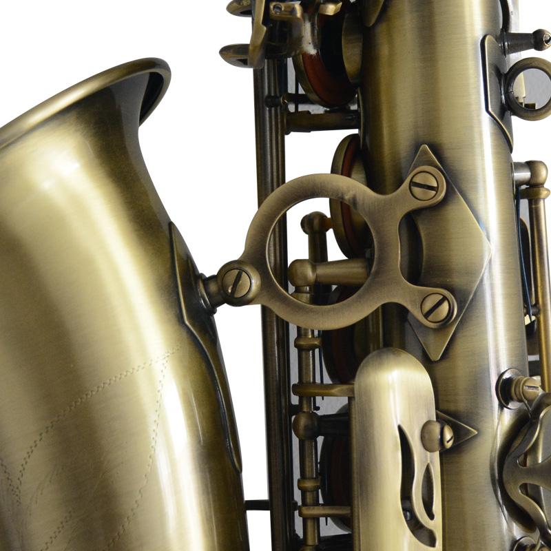 调中音萨克斯风管终身保修包邮 E 视频展示亨韵乐器青古铜仿古降