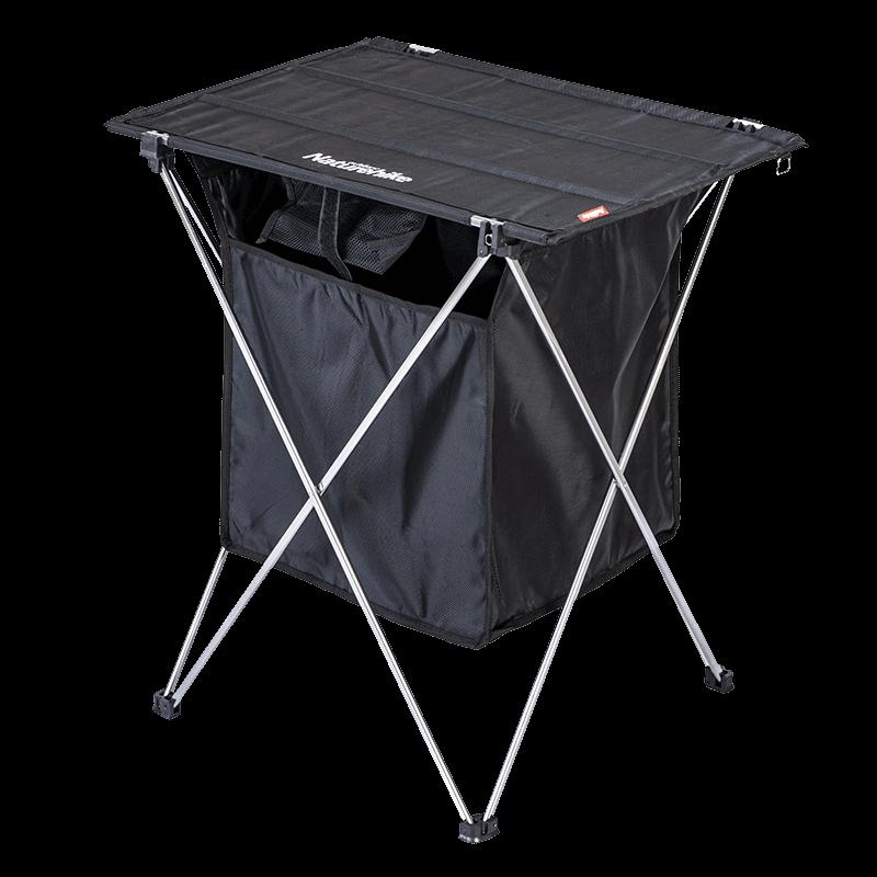 挪客户外铝合金折叠桌便携式简易烧烤野餐桌露营衣物杂物收纳箱 NH
