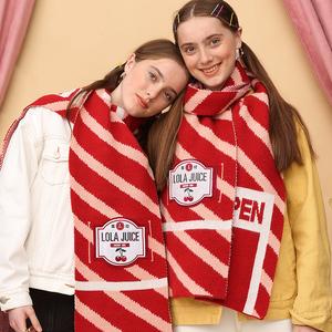 【暖冬围巾】萝拉少女心围脖 新年红色围巾2020冬季新款百搭女