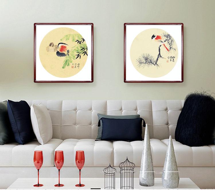 客厅卧室装饰画名人手绘真迹字画国画山水书画动物人物花鸟画定制