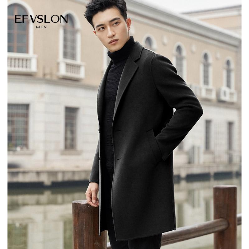男装秋冬装手工双面呢羊毛呢子大衣韩版中长款英伦无羊绒风衣外套
