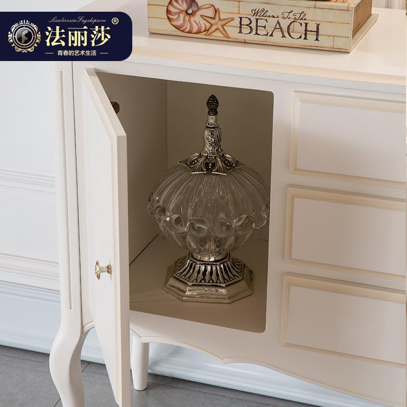 聚法丽莎欧式北欧餐边柜厨房储物柜收纳柜碗柜酒柜实木置物柜B3