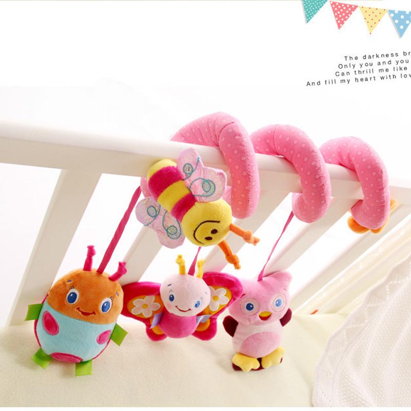 婴儿宝宝毛绒布艺床挂音乐床绕车挂饰床头风铃益智玩具0-1岁