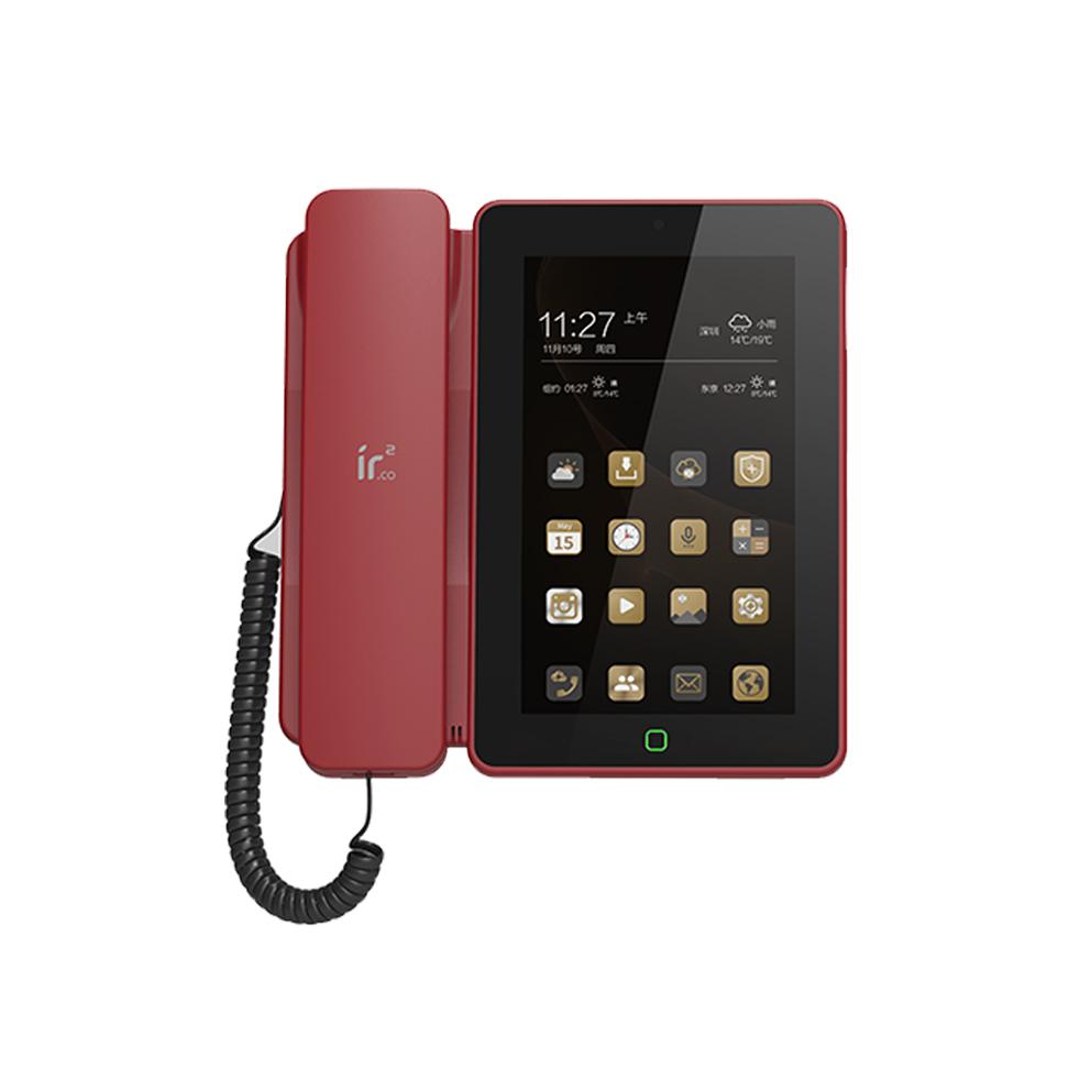安卓智能sip网络电话机 IP会议录音voip触屏座机家用可视WiFi视频
