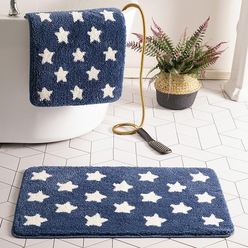 北欧几何卫生间地垫进门地毯卧室门口厕所门垫吸水脚垫浴室防滑垫