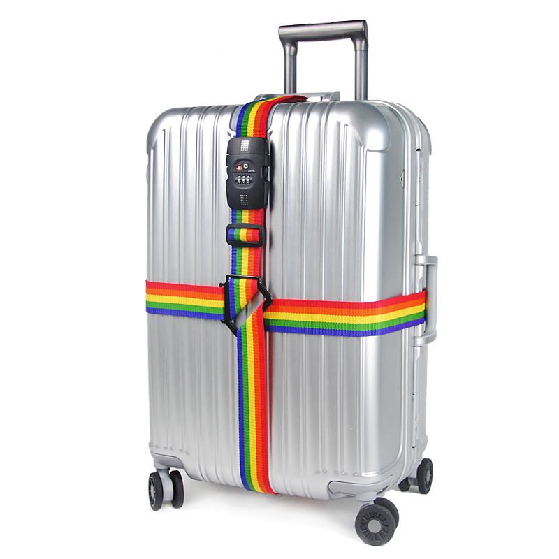 出国旅行箱绑带TSA海关锁行李箱十字打包带密码锁拉杆箱托运加厚