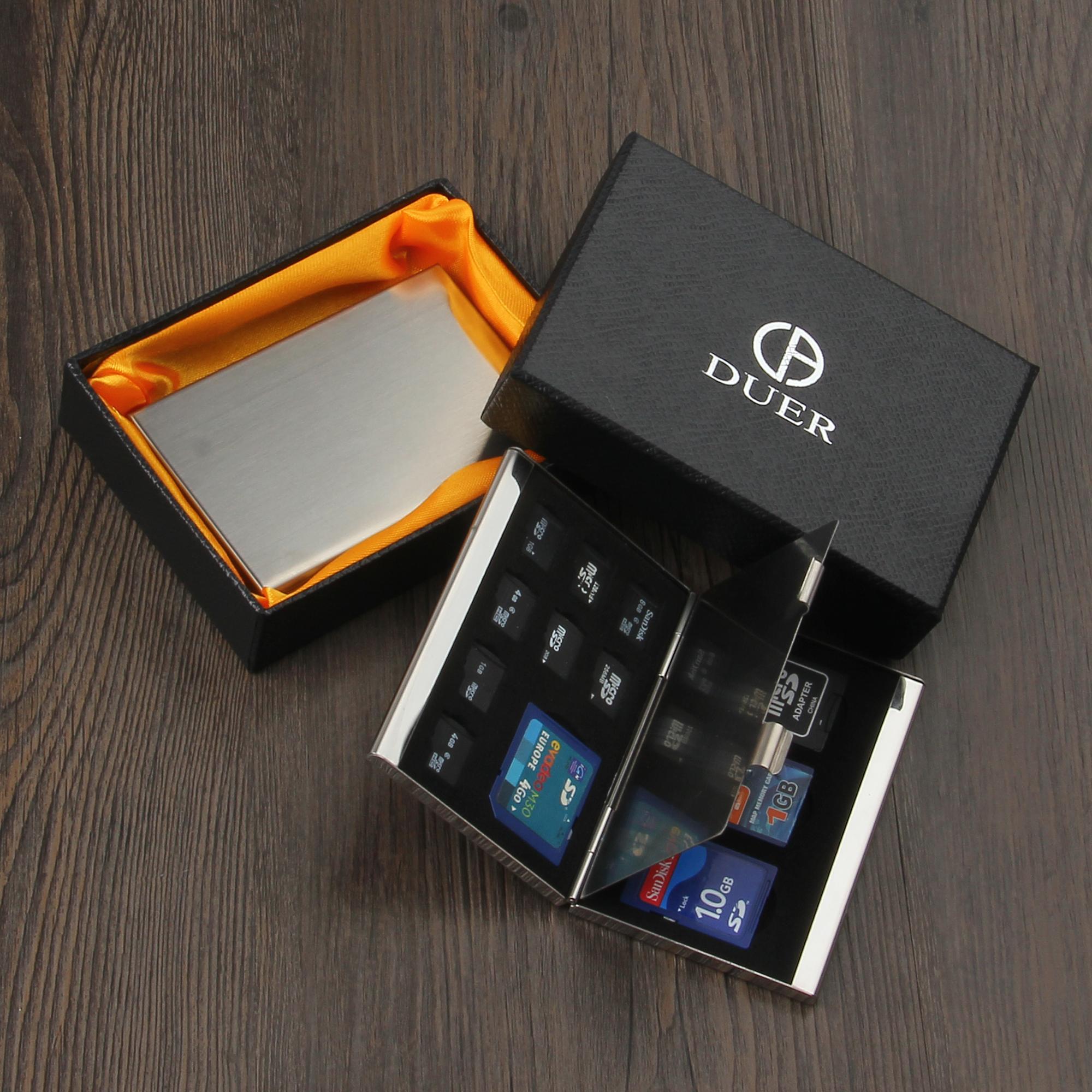 单反内存卡盒SD卡不锈钢TF多功能存储卡盒数码收纳整理包免费刻字