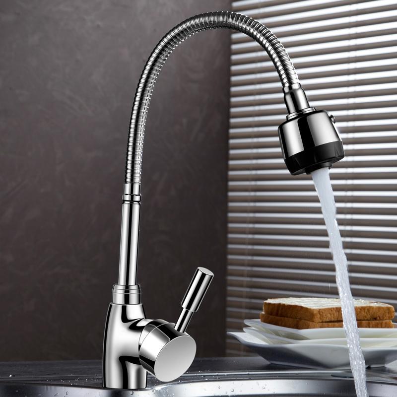 厨房水龙头家用洗菜盆冷热万向单冷水槽淘菜盆洗菜池 304不锈钢