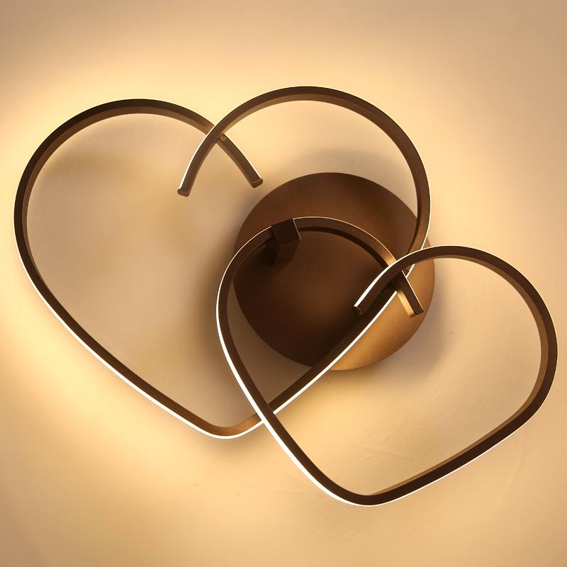 心形吸顶灯温馨浪漫卧室灯婚房灯客厅创意个姓灯具 led 简约后现代