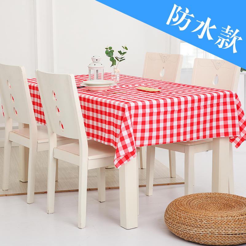 格子桌布长方形方桌野餐布美式田园酒店茶几布台布简约餐桌布布艺