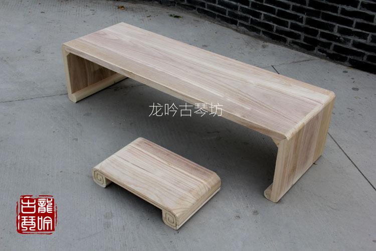 古琴塌桌 桐木古琴桌 书桌 整体茶几桌 米桐木榻桌 1.1 龙吟