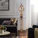 Light living room luxury European-style grandfather clock standing clock watch American decorative ornaments luxury villa large pendulum clock