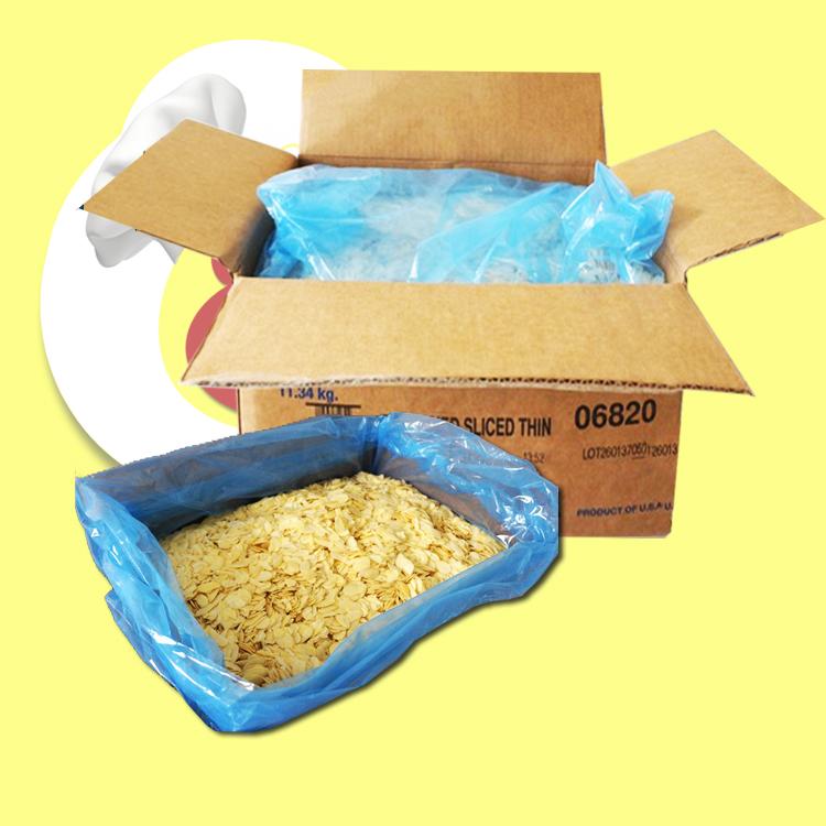 巴旦木扁桃仁片西点装饰烘焙原料 11.34kg 1kg 蓝钻杏仁片 美国进口
