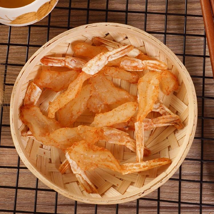 手信特产海鲜零食小吃 500g 香港香烤虾干即食香辣虾干微辣嚼劲香脆