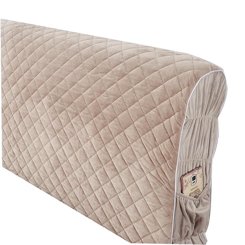 床头套罩软包冬季加厚 1.8米床保护套布艺 天鹅绒布弹力全包