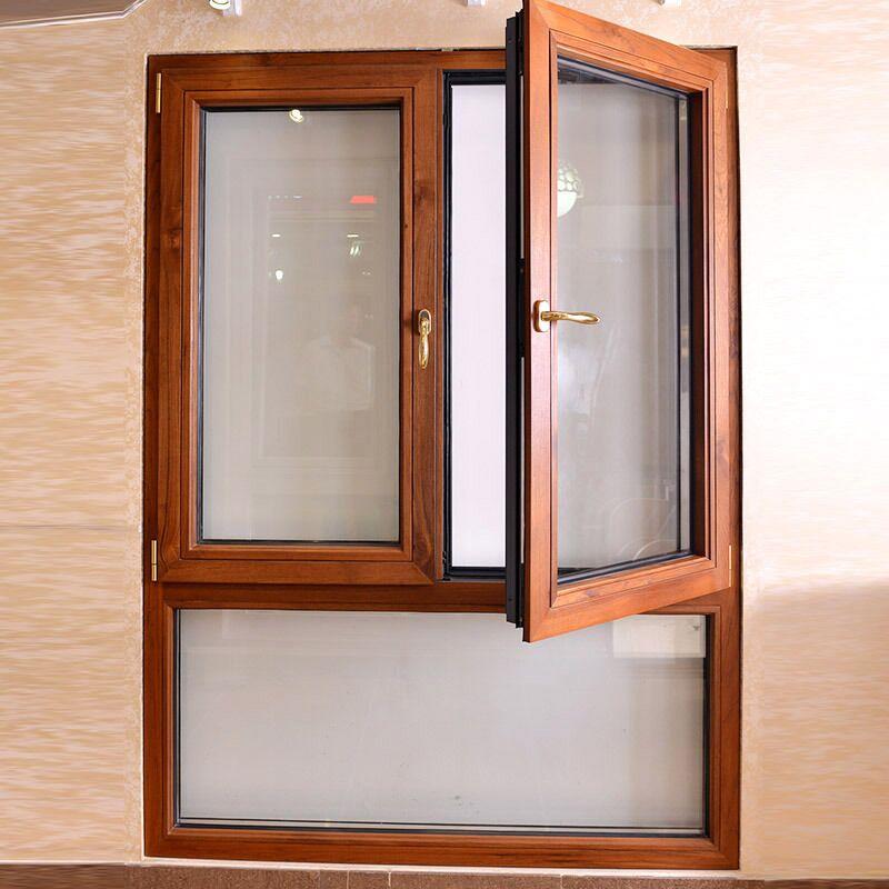 北京铝包木门窗隔音门窗定制平开窗封阳台卧室落地窗双层玻璃窗户