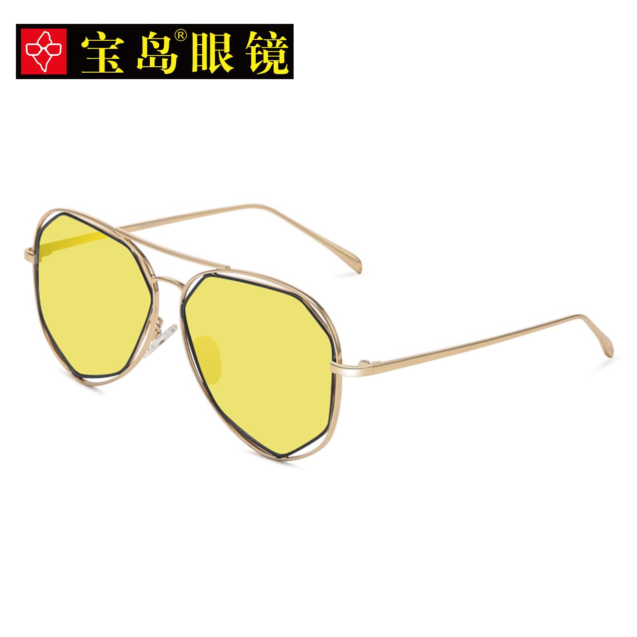 目戏太阳镜 女款潮人韩版大框偏光个性优雅驾驶镜百搭墨镜 3036