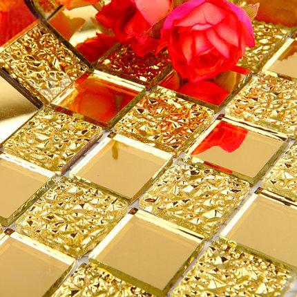 莱纳斯玻璃马赛克背景墙拼花88988电视背景金钻镜面马赛瓷砖自贴