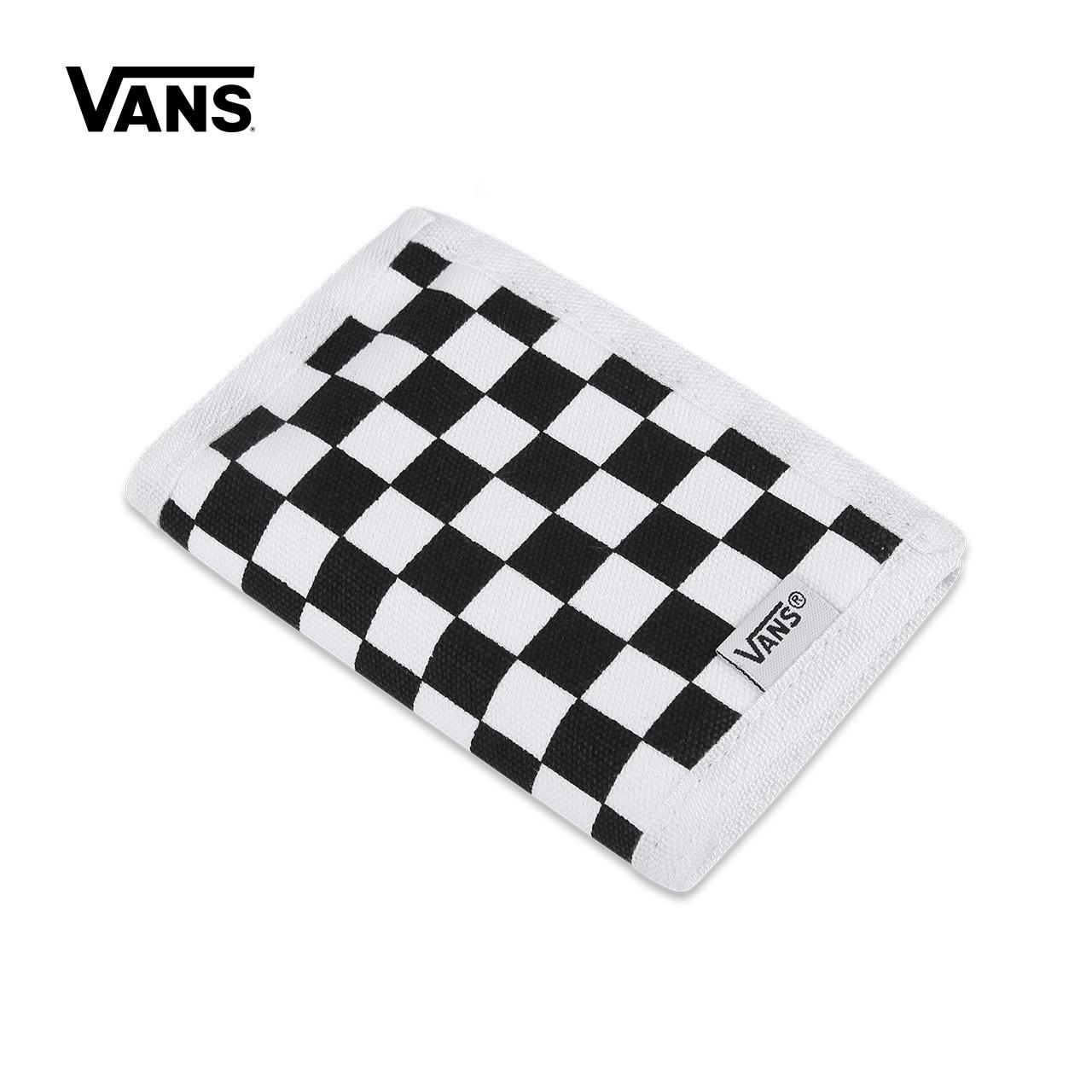 Vans範斯官方正品 新款棋盤格情侶款運動錢包