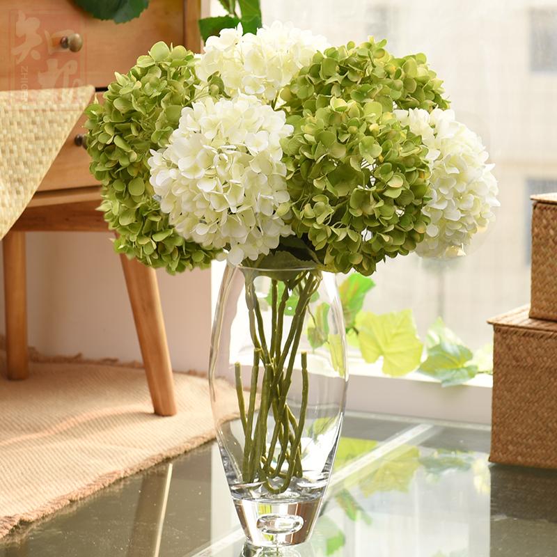 假花绣球仿真花 装饰花客厅花卉落地绢花 婚庆样板间室内摆放花卉