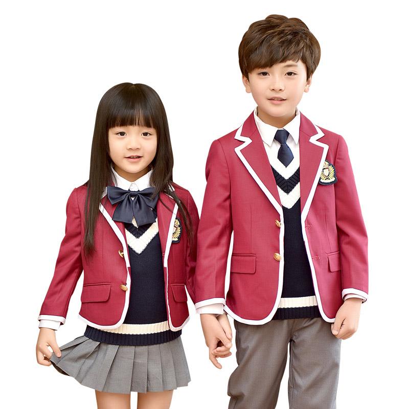校服西装套装男女童装英伦学院风春秋冬季幼儿园园服中小学生班服